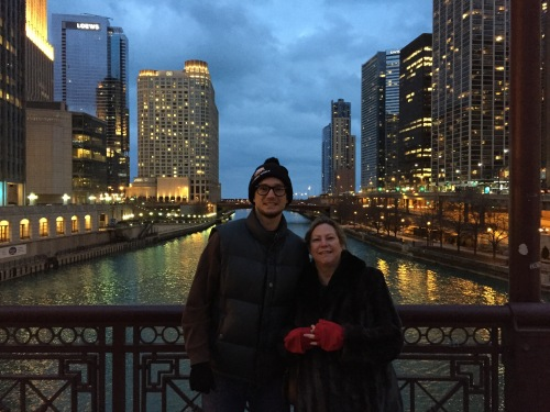 Mom and I Chicago Night