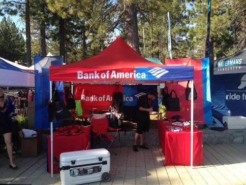 Bank of America Tent Race the Lake of the Sky 2015