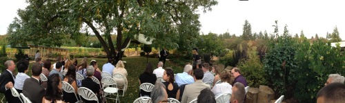 DANCIN Vineyard Medford Oregon Wedding Pano