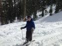 Brien skiing