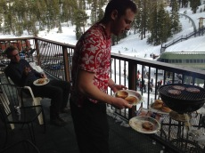 Adam grilling