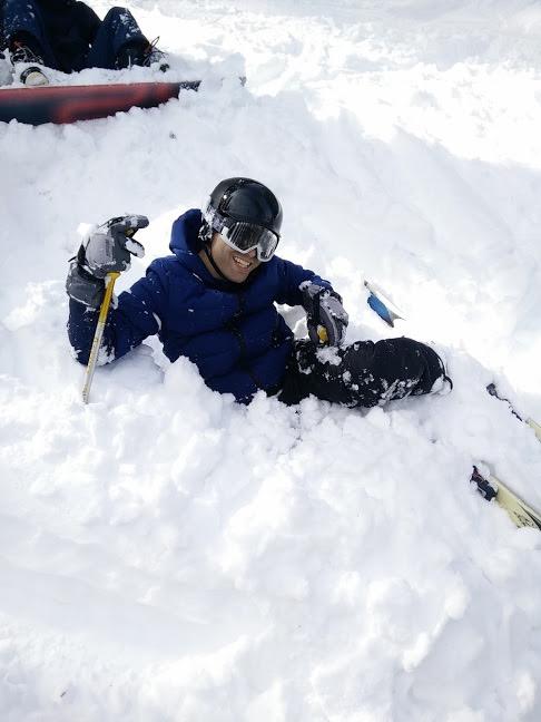 Brien in the snow
