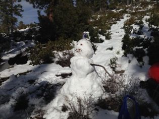 Snowman at Zephyr Cove
